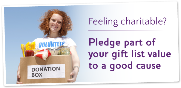 Wedding Gift List Charity : list and buy a gift Create a gift list Build your free gift list ...